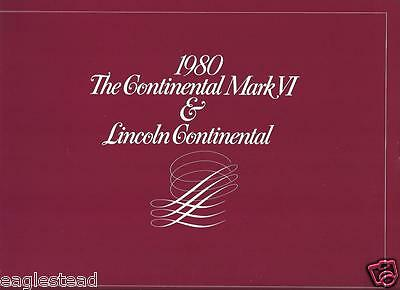 Auto Brochure - Ford - Continental Mark VI - Lincoln Continental - 1980 (AB689)