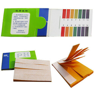 80 Strips 1-14 pH Indicator Test Strips Paper  BODY WATER SOIL FOOD New