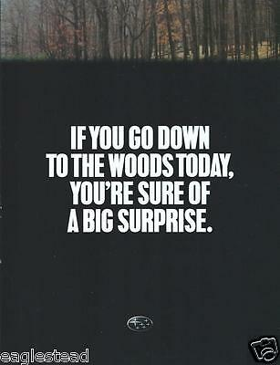 Auto Brochure - Subaru - Forester - Go to the Woods - 1998 (AB699)