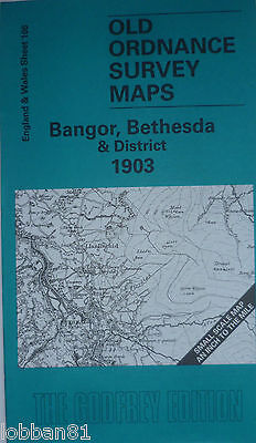 Old Ordnance Survey Map Bangor Bethesda & District & Plan Betws Garmon 1903 S106