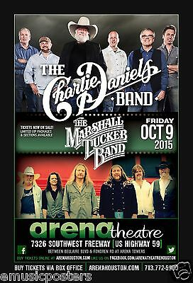 Charlie Daniels Band / Marshall Tucker Band 2015 Houston Concert Tour Poster