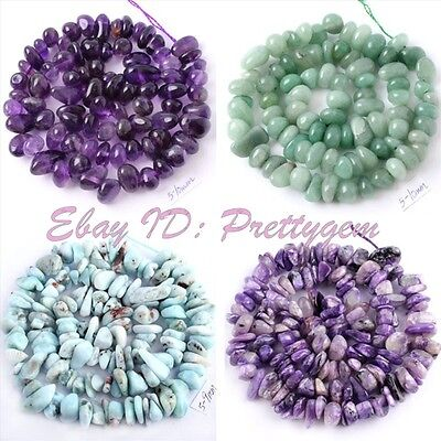 """4-7x5-10mm Natural Freeform Gemstone Beads For Jewelry Making Spacer Strand15"""""""