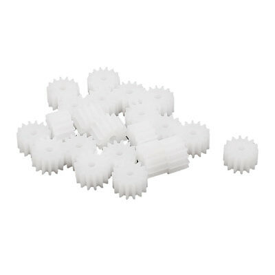 20 Pcs 7.6mmx2mm 14 Teeth Plastic Thick Motor Spindle Spur Gear for DIY Robbot