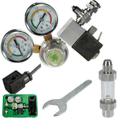 Co2 regulator magnetic solenoid valve dual Two gauge planted aquarium HOT