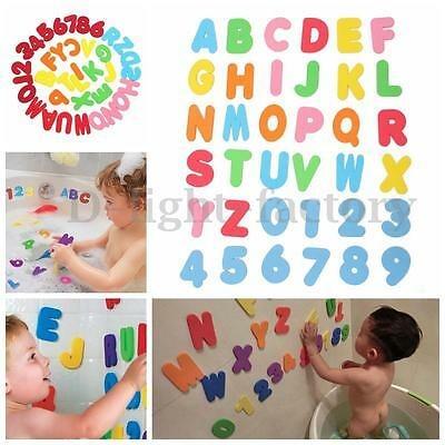 36pcs Baby Kid Sponge Foam Letter Number 123 Floating Bath Tub Swimming Play Toy