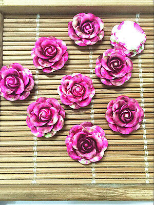 NEW 20pcs Resin Rose Flower flatback Appliques For phone/wedding/crafts RH01