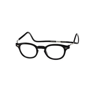 a78a151799 DW Clic Vintage XXL BLACK Oval Magnetic Reading Glasses Front Connect  Readers