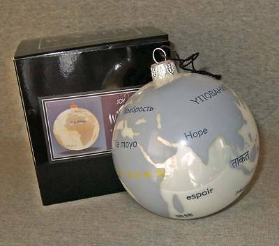 Livestrong Joy To The World Ornament~Made in Poland~MIB