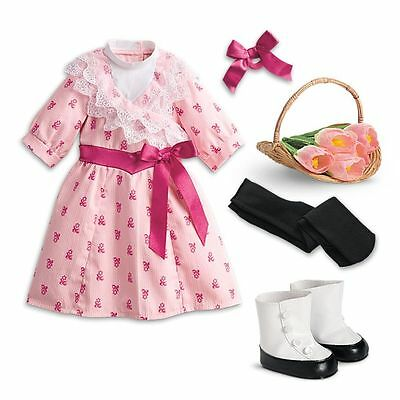 "New American Girl Samantha's Springtime Flower Picking Outfit Set For 18"" Dolls"