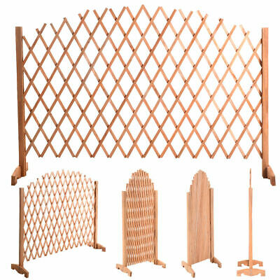 70 4/5 Expanding Portable Fence Wooden Screen Dog Gate Pet Safety Kid Patio Lawn