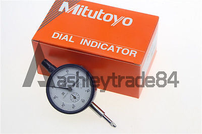 New Mitutoyo 2046S Dial Indicator 0-10mm X 0.01mm Grad Made in Japan