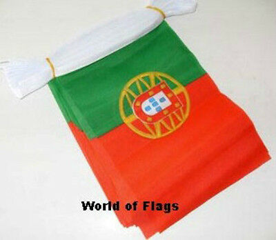 PORTUGAL FLAG BUNTING Portuguese 9m 30 Polyester Fabric Party Flags