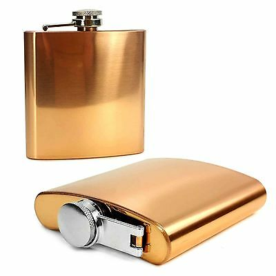 E-Volve Hip Flask -6Oz- Stainless Steel Wedding Golf Best Man Gift - Copper