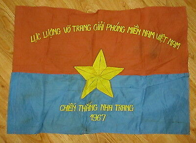 Viet Cong 1967 Nha Trang Chien Thang-Means Campaign/liberate Flag