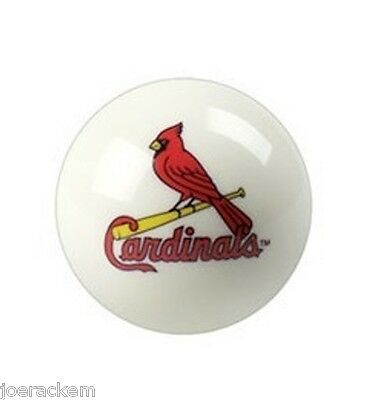New St. Louis Cardinals WHITE - Cue Ball - White 2 1/4 inch - FREE US SHIPPING