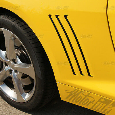 2008-2013 Chevy Camaro Side Vent Gill 3m Carbon Fiber vinyl With Free Bowtie