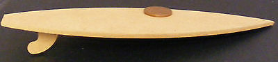 1:12th Natural Finish Wood (mdf) Surf Board Dolls House Miniature Toy Accessory