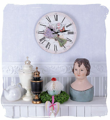 Wall clock Lavender VINTAGE watch Provence KITCHEN CLOCK Country house style