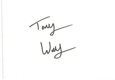 Signed Tony Way Eastenders Game Of Thrones My Family Signature Blunder Uacc