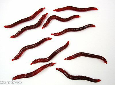 Earth Worm Soft Baits Scented & Flavored. Realistic Look. 1 Pack of 10 Worms