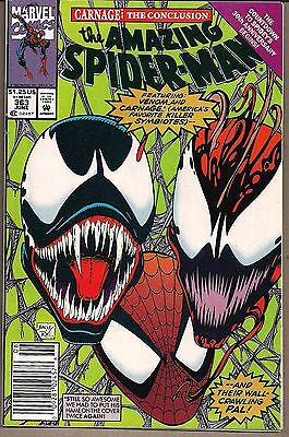 Amazing Spider-Man #363 Marvel 06/92 Venom & Carnage (3Rd App) Bagley Art Vf/nm
