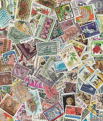 60 British Commonwealth & Empire Stamps - All Different Good Age/Country Mix