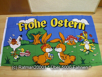 Fahnen Flagge Frohe Ostern Pilz - 90 x 150 cm