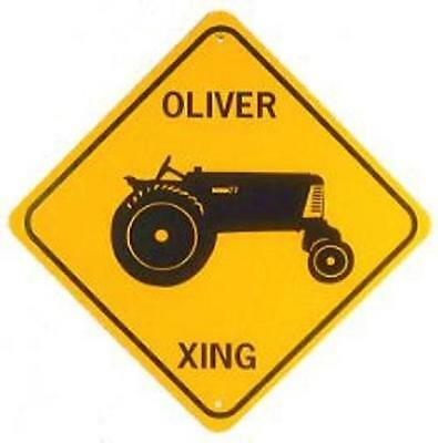 OLIVER XING  Aluminum Tractor Sign  Won't rust or fade