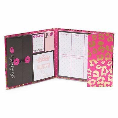 Juicy Couture Limited Edition Weekly Organizer Pink Leopard Print NEW