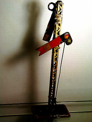 """Vintage prewar double Semaphore manually operated, 13"""" tall"""