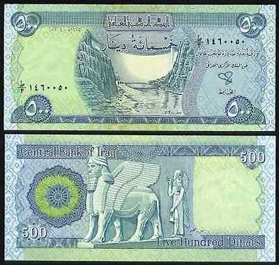 500 New Iraq Dinars Uncirculated / Free Shipping.