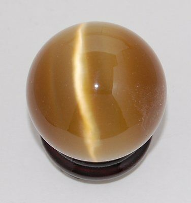 Cat's Eye 40mm Sphere Ball Globe Orb w/Stand, Brown, New, USA Seller
