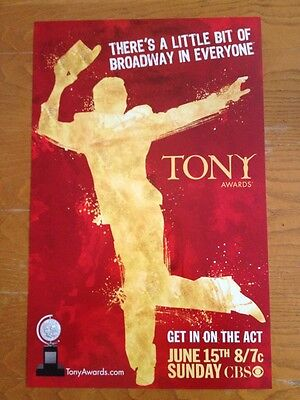 TONY AWARDS 2008 Broadway Window Card Poster [GYPSY SOUTH PACIFIC IN THE HEIGHTS