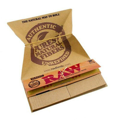 Raw Classic Artesano King Size Slim Rolling Papers Tips Tray Smoking Cigarette
