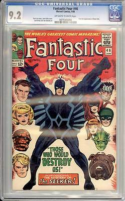 Fantastic Four # 46 First full appearance of Black Bolt !  CGC 9.2 scarce book !