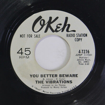 VIBRATIONS: You Better Beware / Pick Me 45 (dj) Soul