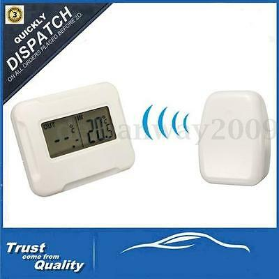 Indoor Outdoor Digital Wireless LCD Thermometer Temperature+Remote Sensor 433MHz