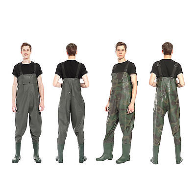 Waterproof Pvc  Chest Waders Fly Coarse Sea Fishing Breathable Uk 8 9 10 11