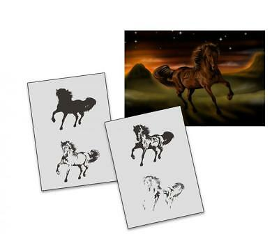 Step by Step Stencil AS-301 Horse ~ UMR Airbrush Stencil