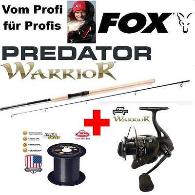 Fox RAGE WARRIOR 4000 + WARRIOR Spin 2,40m Fox Wg: 20-80G + 200m 0,17mm FIRELINE