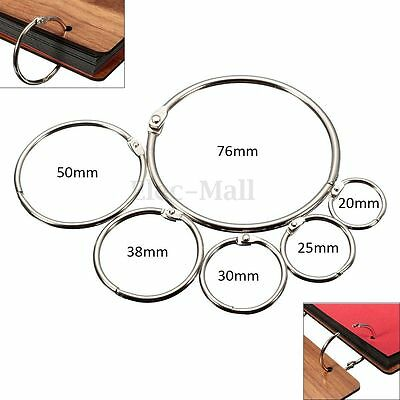 10Pcs Metal Hinged Ring Book Binder Craft Photo Album Split Keyring Scrapbook