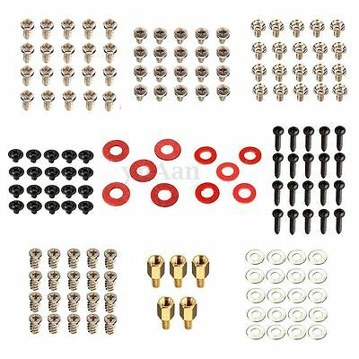 155pcs/set Computer Motherboard PC Case CD-ROM Hard Disk Fan Chassis Screws Kit