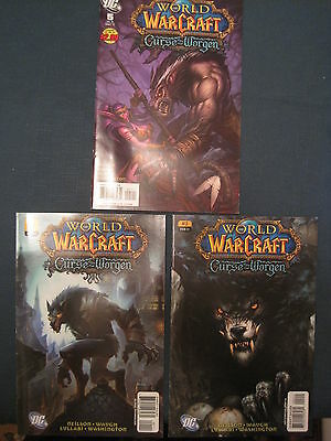 WORLD of WARCRAFT : CURSE of the WORGEN :ISSUES 1,2,5 (of 5). NM. WILDSTORM.2008