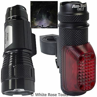 Am-Tech Cree LED Super Bright Bicycle Light Cycle Bike Individual Front or Rear