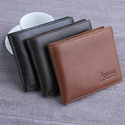 High Quality Men's PU Leather Wallet Credit Card Holder Coin Pouch Purse Pocket