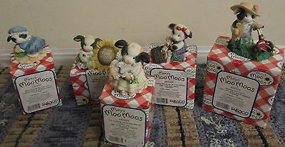 Lot of 5 Enesco Mary Moo Moo's Figurines Spring/Summer FREE SHIPPING!