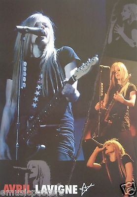 "AVRIL LAVIGNE ""5 LIVE CONCERT SHOTS"" POSTER FROM ASIA - Avril Playing Her Guitar"