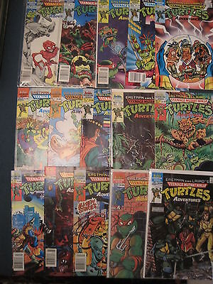TEENAGE MUTANT NINJA TURTLES ADVs :BUNDLE of 15 ISSUES.EASTMAN,LAIRD.1989 SERIES