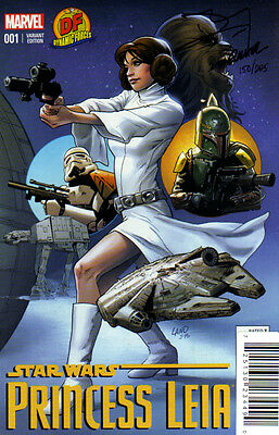 STAR WARS Princess Leia #1 DF GREG LAND cover Signed TERRY and RACHEL DODSON