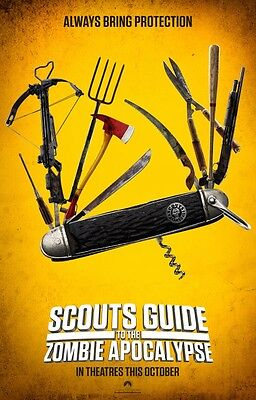 Scouts Guide To The Zombie Apocalypse - original DS movie poster - 27x40 D/S Adv